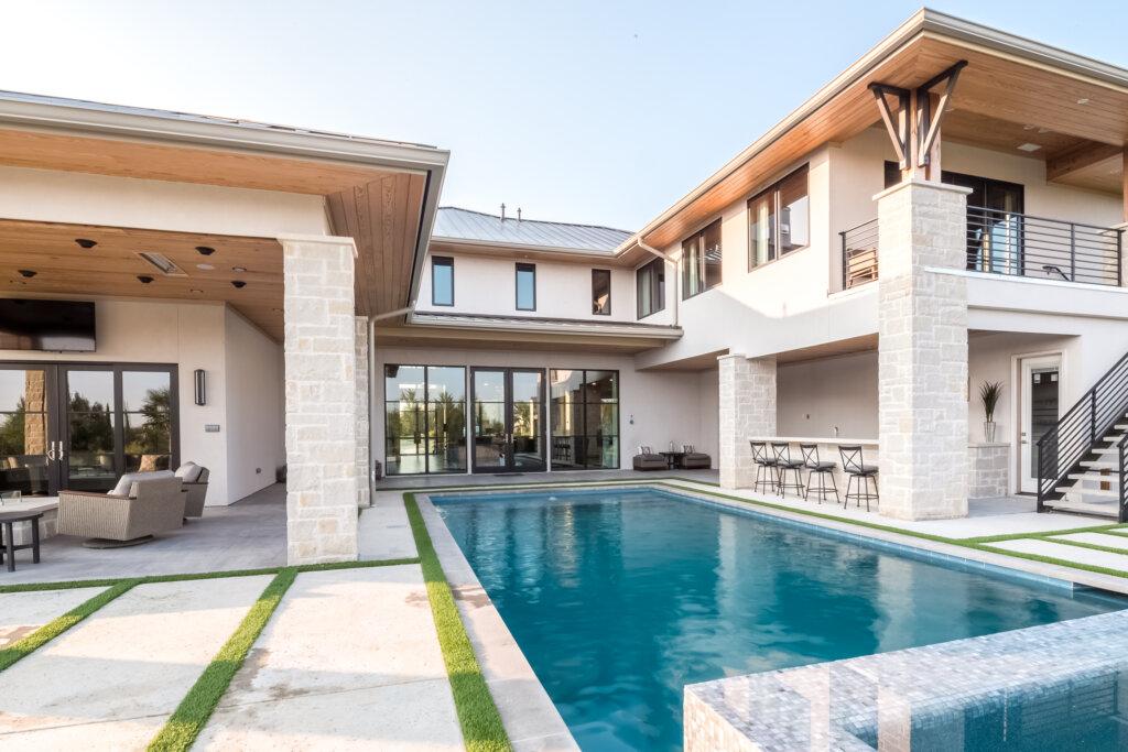 Backyard Landscape architecture of the La Cantra Dream Home